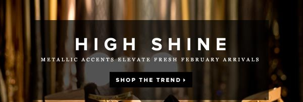 Metallic Accents Elevate New February Arrivals - Shop the Trend