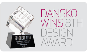 Dansko wins 8th Design Award from Footwear Plus magazine.