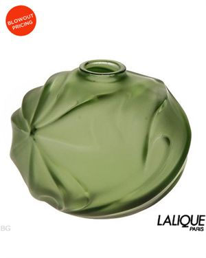 LALIQUE Crystal Vase Made in France