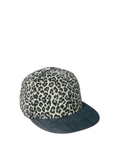 ASOS Snap Back Cap with Leopard Print