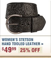 Women's Stetson Hand Tooled