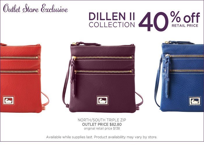 Outlet Exclusive - Dillen II Collection 40% off retail price