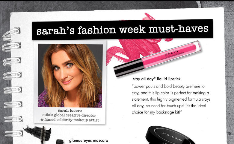 sarah's fashion week must haves