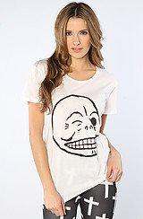 The Flirt Skull Easy Tee in White