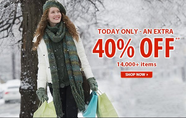 Today Only - Top Secret Sale! An Extra 40% OFF over 14,000 Items!