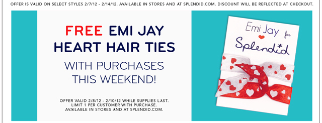 Free Emi Jay Heart Hair Ties
