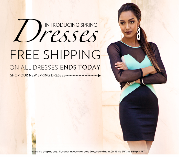 Shop New Spring Dresses + Free Shipping