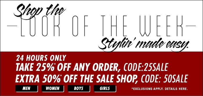 DrJays.com Take 50% Off The Sale Shop With Promo Code.