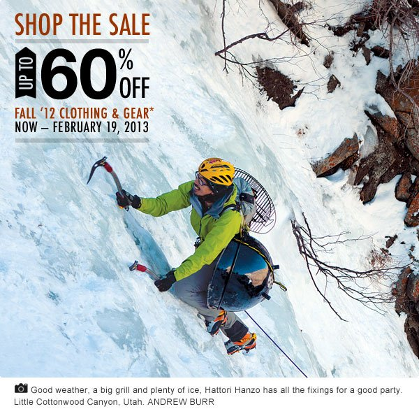 Up To 60 Percent Off Fall 2012 Clothing and Gear