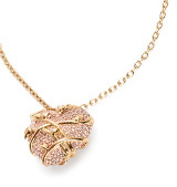 pave heart vine necklace