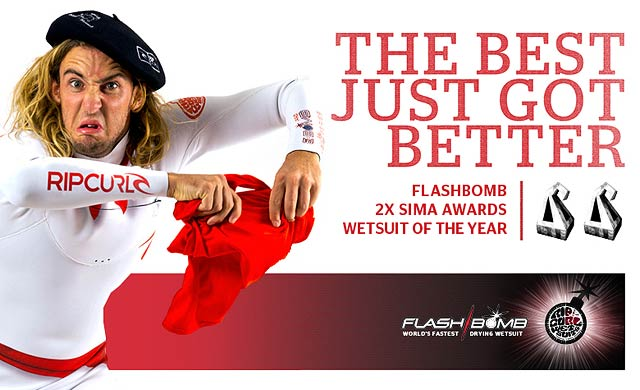 The Best Just Got Better - Flashbomb - 2x SIMA Awards - Wetsuit of The Year
