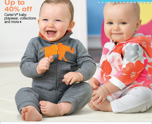 Up to 40% off Carter's® baby playwear, collections and more