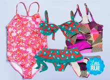 For Spring Vacation Girls' Bright Swimsuits