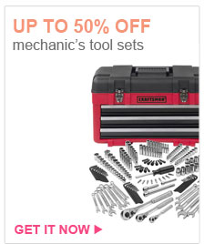 UP TO 50% OFF mechanic's tool sets | GET IT NOW