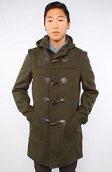 <b>SchottNYC</b><br />The 24oz Duffle Coat in Dark Loden
