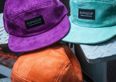 Shop Hats ft. Brand New Suede RIPNDIP