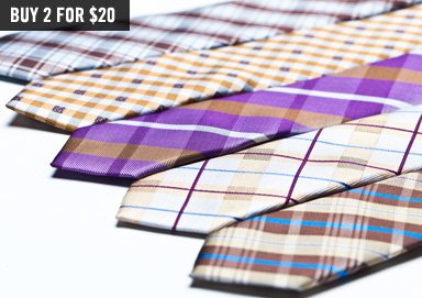 Shop Now's the Time: Stock Up on Ties