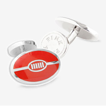 The Lions Rugby Ball Cufflinks