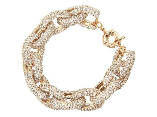 This bracelet looks like a 1950's estate piece. Worn with jeans and a white shirt for lunch or with a gown for a special party it is beyond chic!