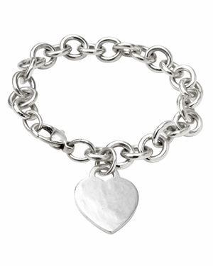 Tiffany & Co. Sterling Silver Heart Tag Bracelet $169