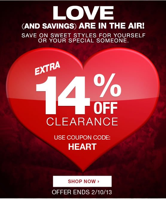 14% off clearance