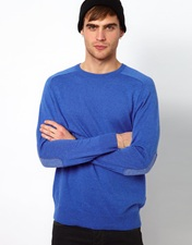 River Island Elbow Patch Jumper