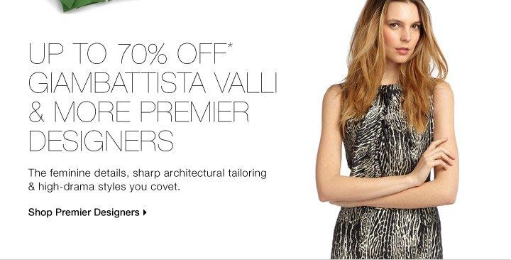 Up To 70% Off* Giambattista Valli & More Premier Designers