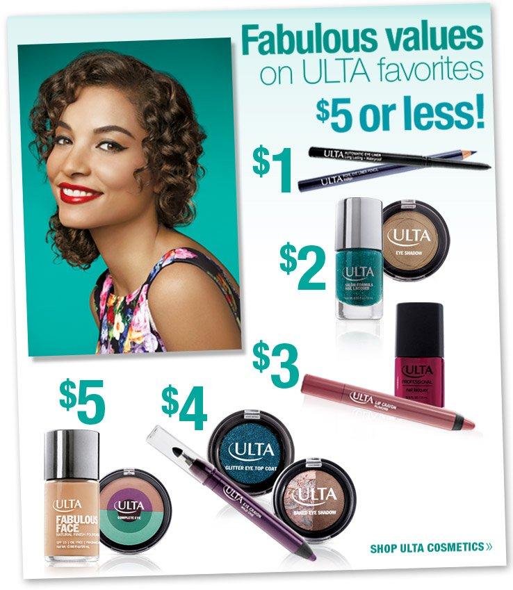 Fabulous Values on ULTA Favorites - $5 or less!
