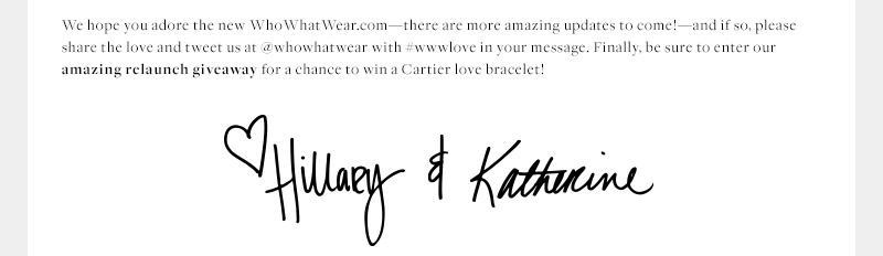 We hope you adore the new WhoWhatWear.com