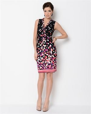 Glamour Multicolor Polkadot Dress
