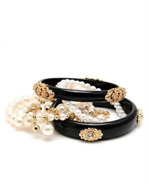 Schroeder Faux Pearl & Crystal Bracelet Set