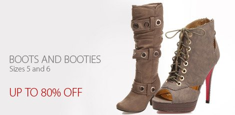 Boots and Booties Sizes 5 and 6