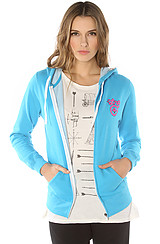 The Western Classic Zip Hoody in Turquoise
