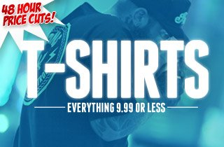 Tees:$9.99 and under