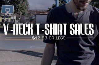 V-Neck T-Shirt Sales