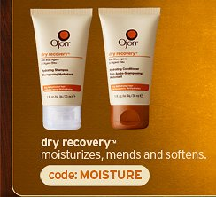 dry  recovery mositurizes mends and softens code MOISTURE