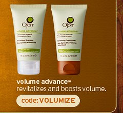 volume advance revitalizes and boosts volume code VOLUMIZE