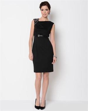 R&M Richards Studded Shoulder Dress
