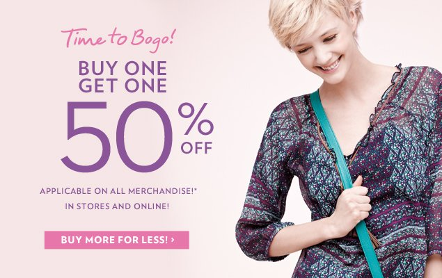 Buy One Get One 50% OFF!*