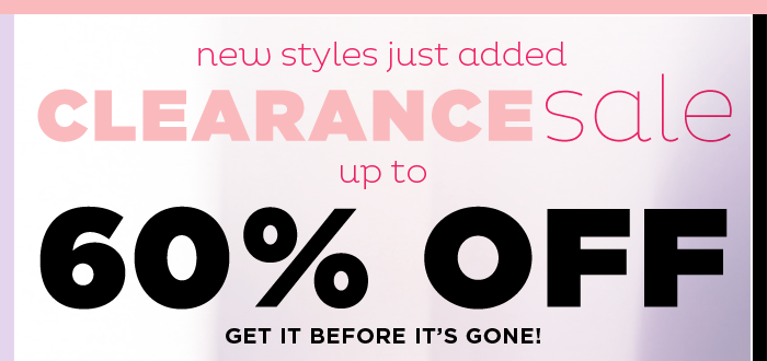 Clearance Sale - up to 60% off