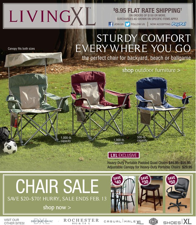 STURDY COMFORT EVERYWHERE YOU GO THE PERFECT CHAIR FOR BACKYARD, BEACH OR BALLGAME