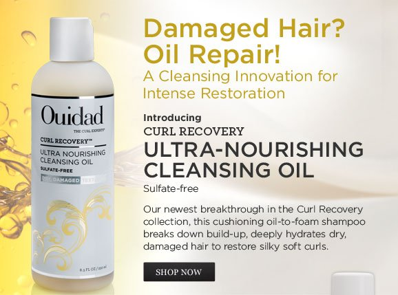 Damaged Hair? Oil Repair! A Cleansing Innovation for Intense Restoration. Introducing Curl Recovery Ultra-Nourishing Cleansing Oil Sulfate-free