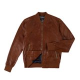 Paul Smith Jackets - Tan Leather Bomber Jacket