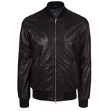 Paul Smith Jackets - Black Leather Bomber Jacket