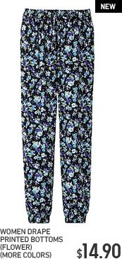 WOMEN DRAPE PRINTED BOTTOMS(FLOWER)(MORE COLORS)