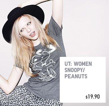 UT: WOMEN SNOOPY/PEANUTS