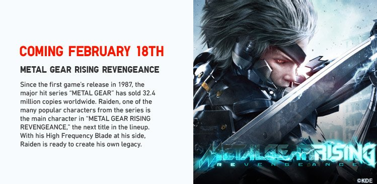 Coming February 18th: METAL GEAR RISING