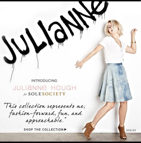 Introducing Julianne Hough for Sole Society - Shop the collection