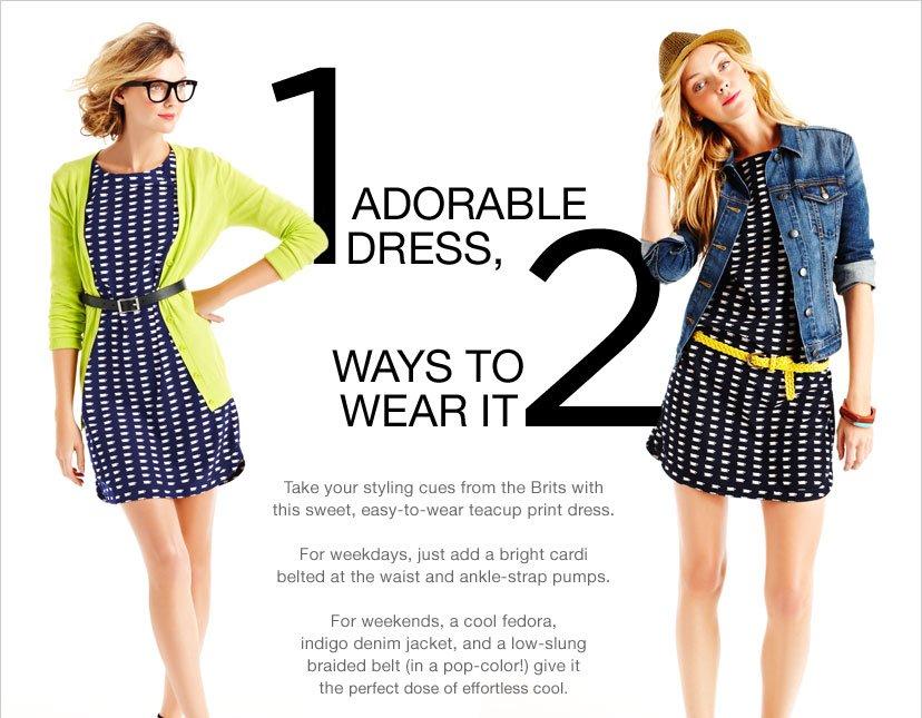 1 ADORABLE DRESS 2 WAYS TO WEAR IT