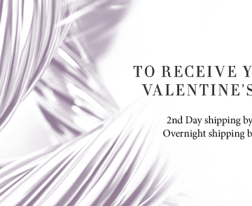 To receive your order by Valentine's day, select: 2nd Day shipping by February 12 at noon. Overnight shipping by February 13 at noon.